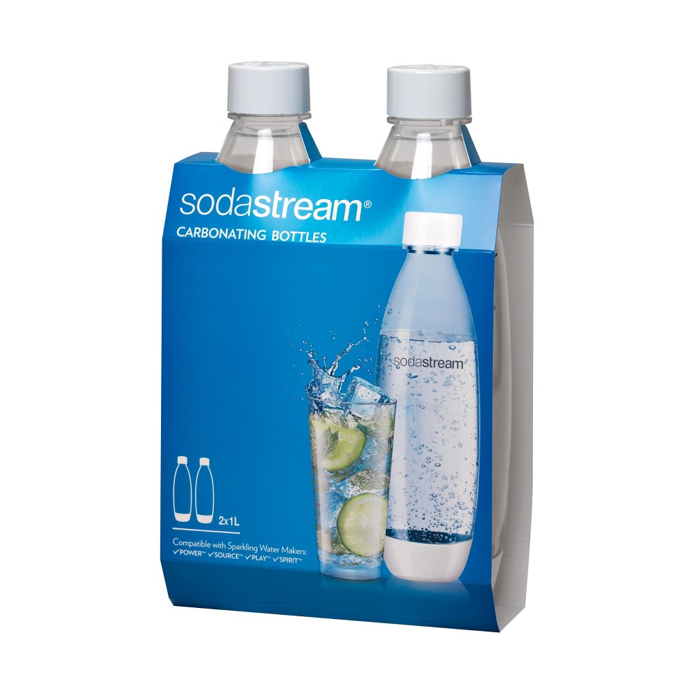 SodaStream Source Set of Two 33oz Carbonating Water Bottles, Clear 53133924