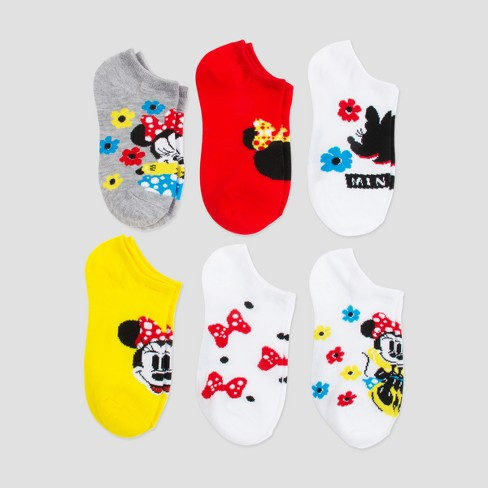 Girls' Disney Mickey Mouse & Friends Minnie Mouse 6pk Socks - image 1 of 1