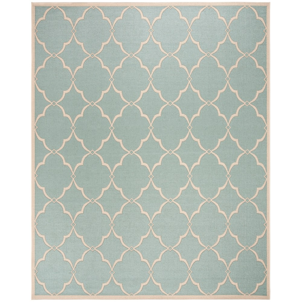 8'X10' Geometric Loomed Area Rug Aqua/Cream (Blue/Ivory) - Safavieh