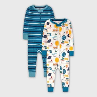Baby Boys' 2pk Space Pajama Jumpsuit - Cat & Jack™ Blue