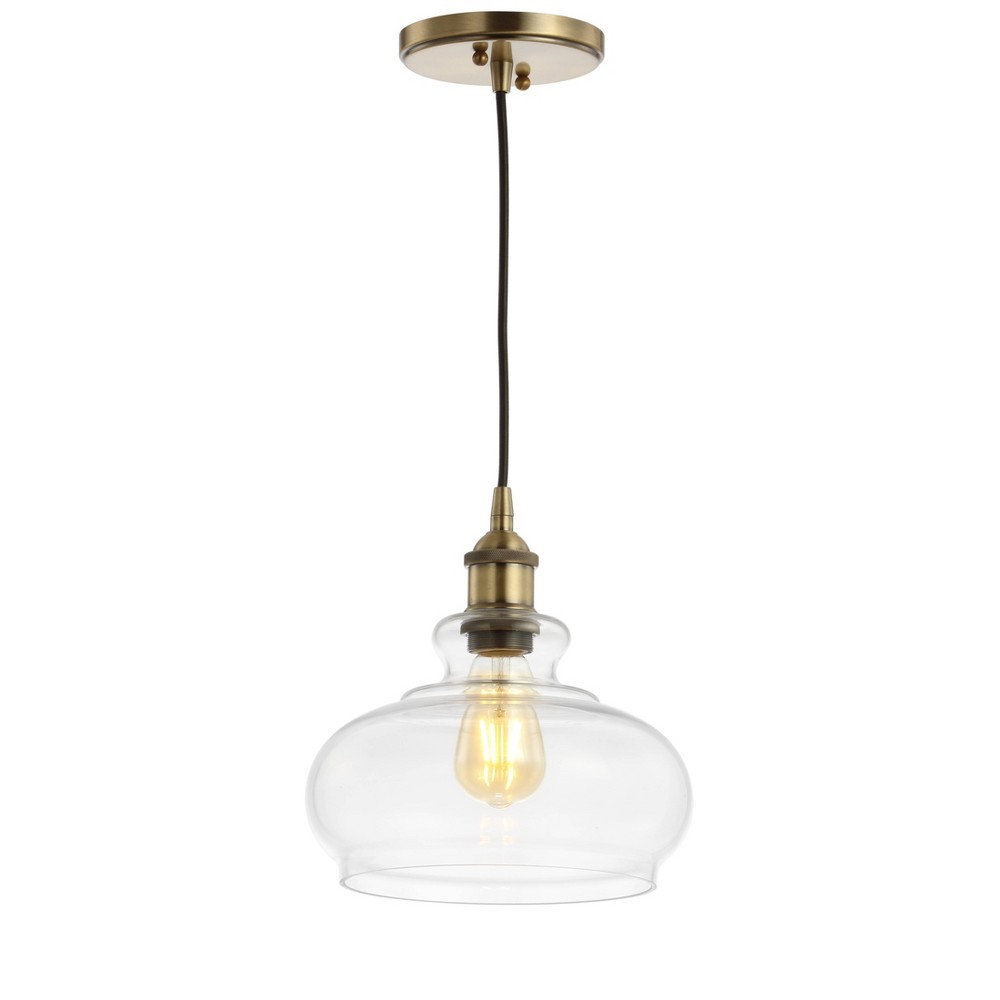 "Promos 9.5"" Adjustable Metal Wyatt Drop Pharmacy Pendant (Includes Energy Efficient Light Bulb)  - JONATHAN Y"