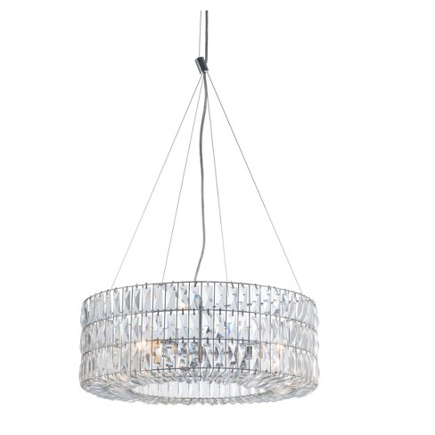 "Classic 23"" Round 3-Tier Crystal Ceiling Lamp - Chrome - ZM Home - image 1 of 3"