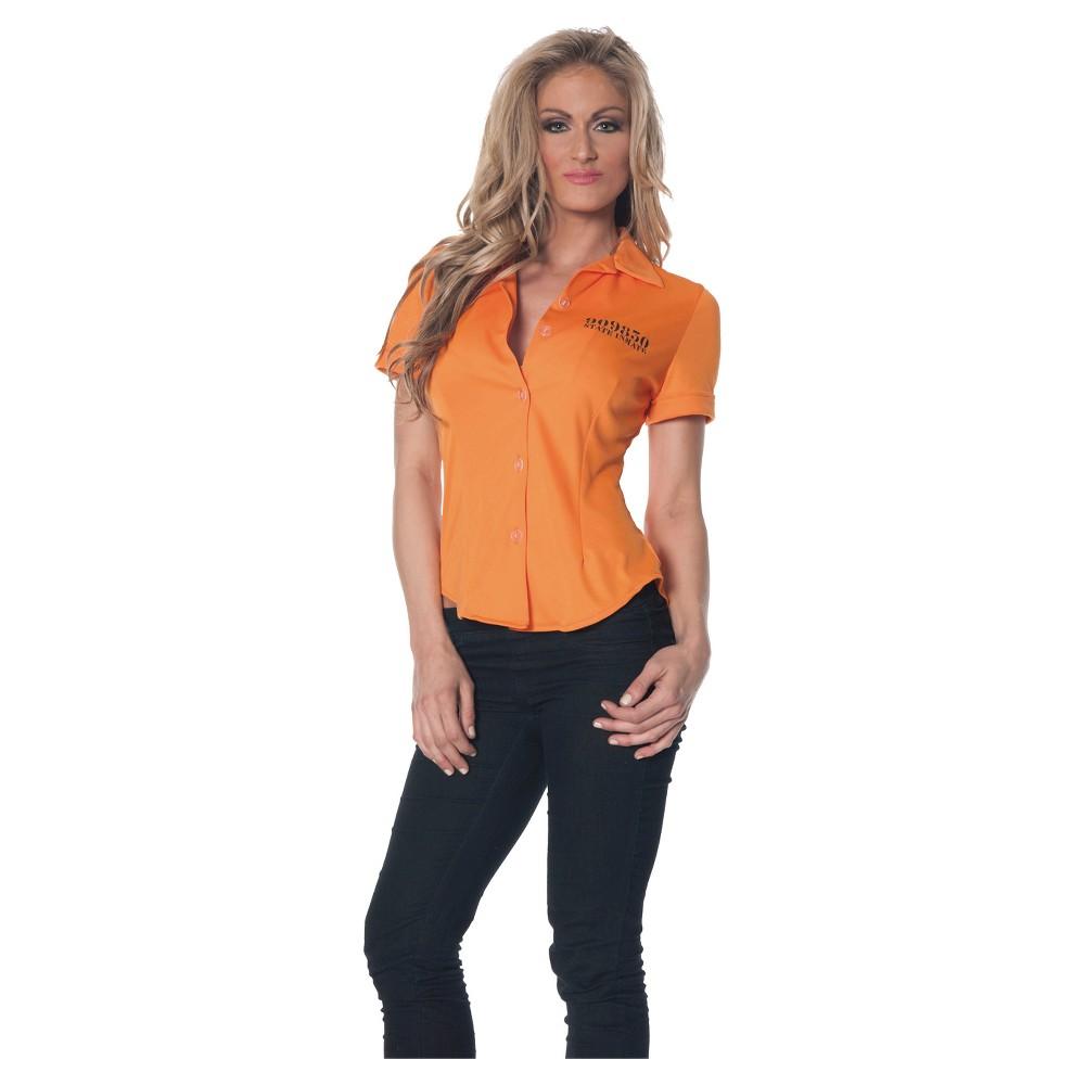 Women's Prisoner Costume XX-Large, Size: 2XL, Orange