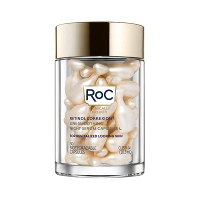 RoC Retinol Correxion Line Smoothing Night Serum Capsules - 30ct
