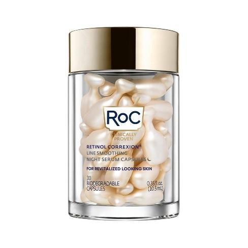 RoC Retinol Correxion Line Smoothing Night Serum Capsules - 30ct - image 1 of 4
