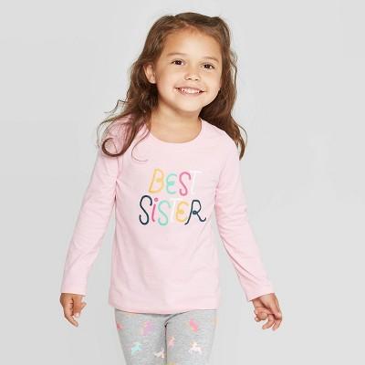 Toddler Girls' Long Sleeve 'Best Sister' T-Shirt - Cat & Jack™ Pink 4T
