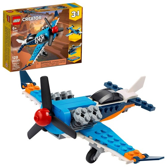 LEGO Creator 3-in-1 Propeller Plane 31099 Building Kit image number null