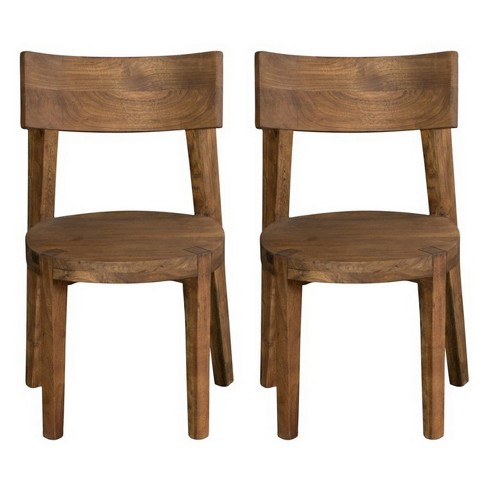 Set Of 2 Sequoia Curved Back Dining Chair Light Brown - Treasure Trove - image 1 of 4
