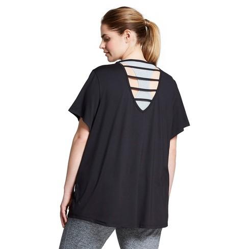 a713dd0eb2d4 Women s Plus-Size T-Shirt - C9 Champion® Black   Target