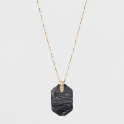 SUGARFIX by BaubleBar Graphic Resin Pendant Necklace