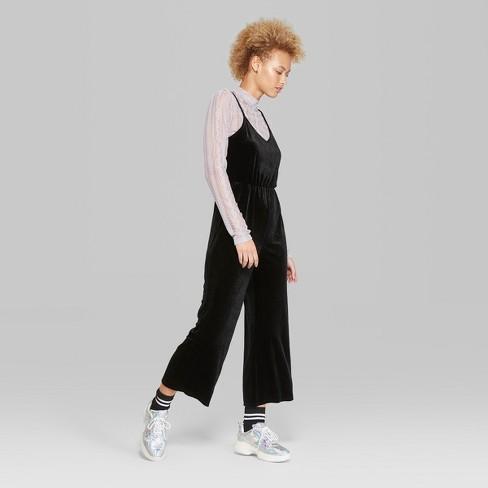 c0db27d8378 Women s Knit V-Neck Jumpsuit - Wild Fable™ Black XL   Target