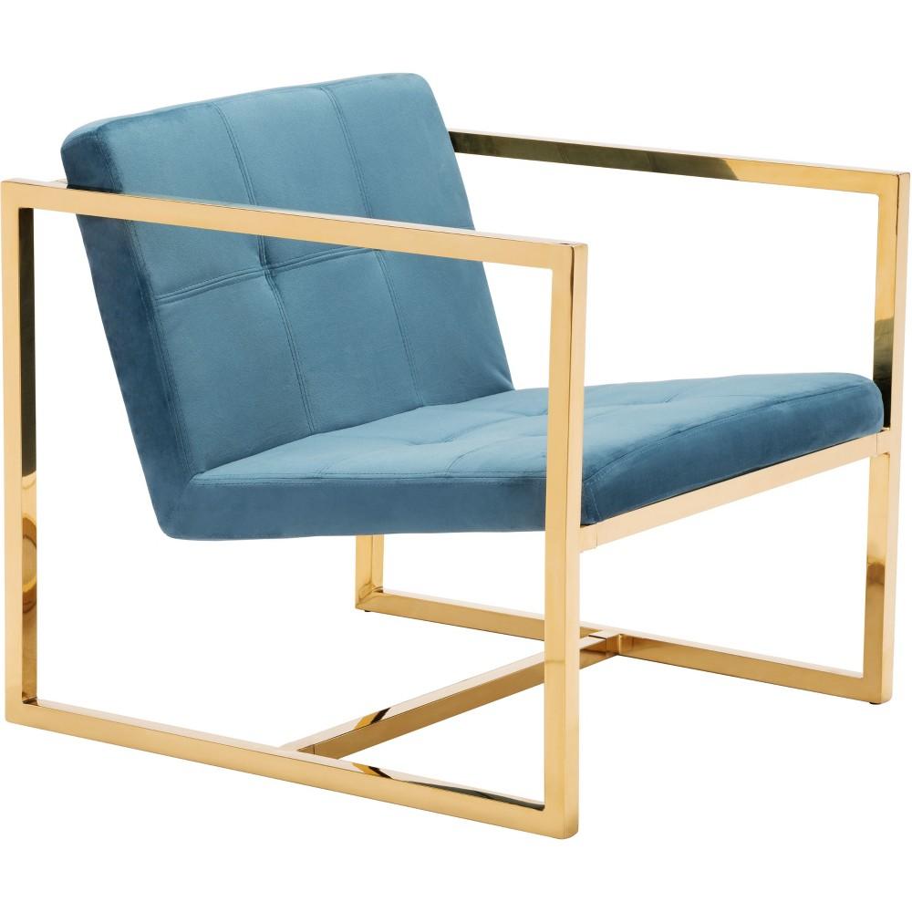 Modern Velvet Arm Chair Blue - ZM Home
