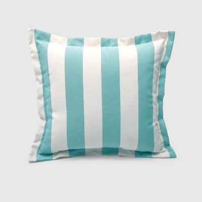 Cabana Stripe Outdoor Deep Seat Pillow Back Cushion Turquoise - Threshold™