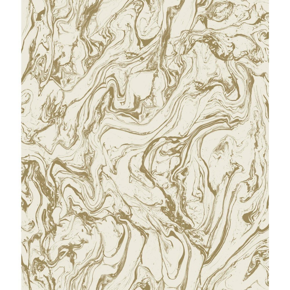 Marble Peel & Stick Wallpaper Gold - RoomMates