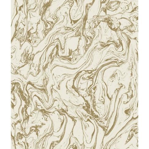Marble Peel Stick Wallpaper Gold Roommates