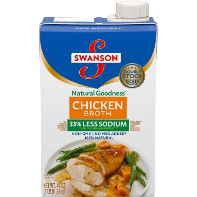 Swanson Natural Goodness Chicken Broth Carton - 48fl oz