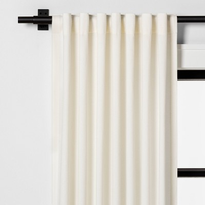 "84"" Fringe Stripe Curtain Panel Sour Cream - Hearth & Hand™ with Magnolia"