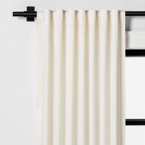 Fringe Stripe Curtain Panel Sour Cream - Hearth & Hand™ with Magnolia - image 1 of 4