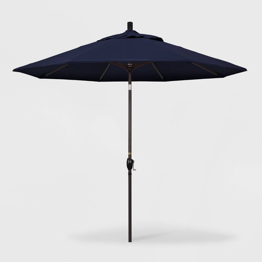 9 Pacific Trail Patio Umbrella Push Button Tilt Crank Lift Pacifica Navy California Umbrella