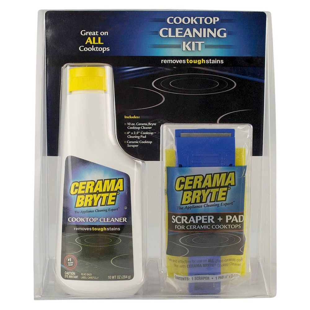 Range Kleen Cerama Bryte Stovetop Cleaning Kit - Set of 3
