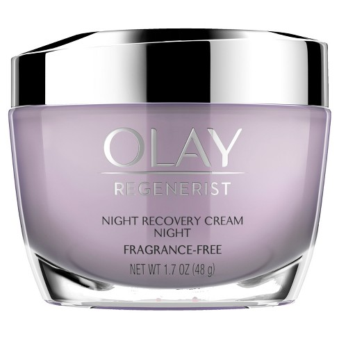 Olay Regenerist Fragrance-Free Night Recovery Cream Moisturizer - 1.7oz - image 1 of 2