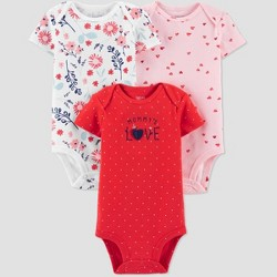Baby Girls' 3pk Ladybug Bodysuit - Just One You® made by carter's Pink/Red/White