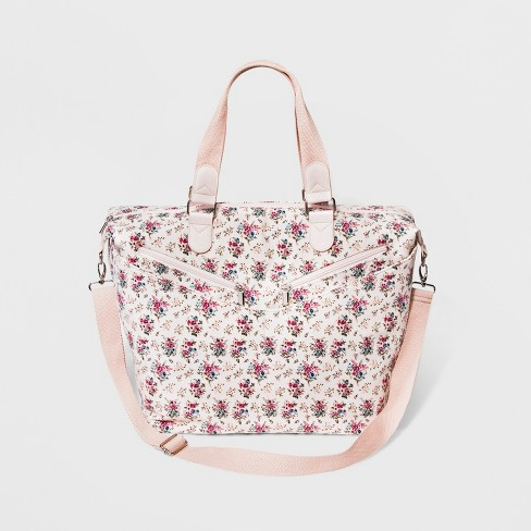 Floral Canvas Weekender Bag - Wild Fable™ Pink - image 1 of 3