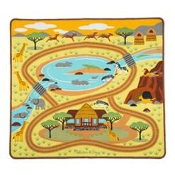 "Melissa & Doug Round the Savanna Safari Rug Activity Rug (39 X 36"")"