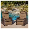 Wicker Set of 2 Patio Recliners - Brown - Christopher Knight Home - image 2 of 4