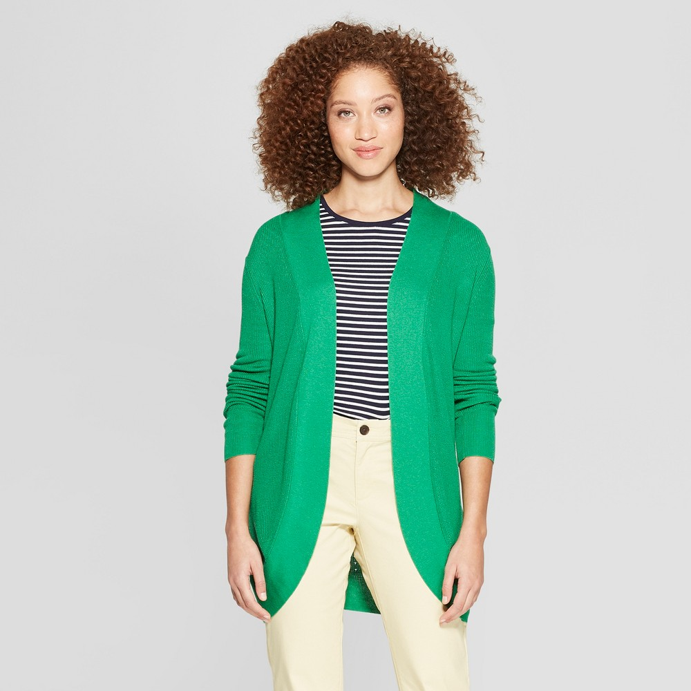 Women's Cocoon Cardigan - A New Day Green XS