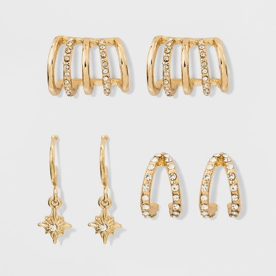 SUGARFIX by BaubleBar Trendy Earring Gift Set – Gold