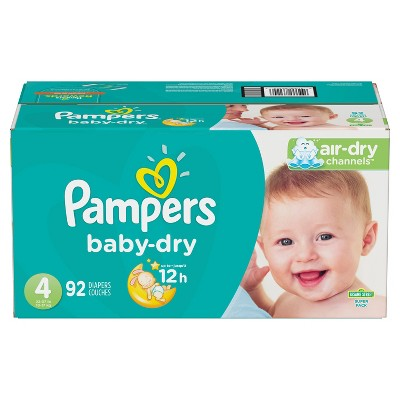 Pampers Baby Dry Diapers Super Pack Size 4 - 92ct