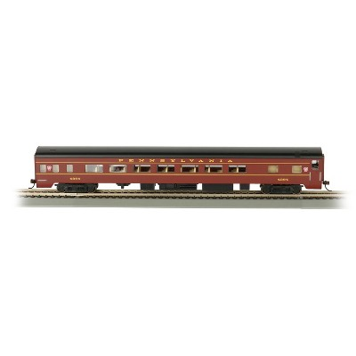 Bachmann Trains 14201 85 Foot Pennsylvania Railroad Smooth Side Coach HO Scale 1:87 Model Train w/ E-Z Mate Couplers, Metal Wheels, & Lighted Interior