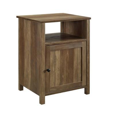 Grooved Door Side Table Reclaimed Barnwood - Saracina Home