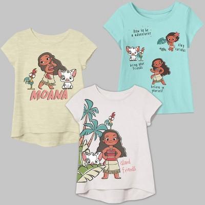 Toddler Girls' 3pk Moana T-Shirt