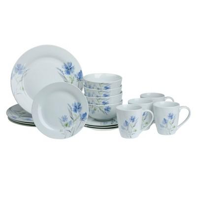 16pc Porcelain Wildflower Dinnerware Set - Tabletops Gallery
