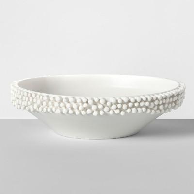 10.5  x 2.9  Porcelain Tufted Bowl White - Opalhouse™