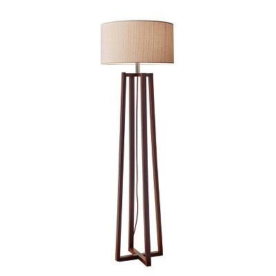 """60"""" Quinn Collection 3-way Floor Lamp Brown - Adesso"""