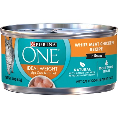Purina ONE Ideal Weight Chicken Wet Cat Food - 3oz