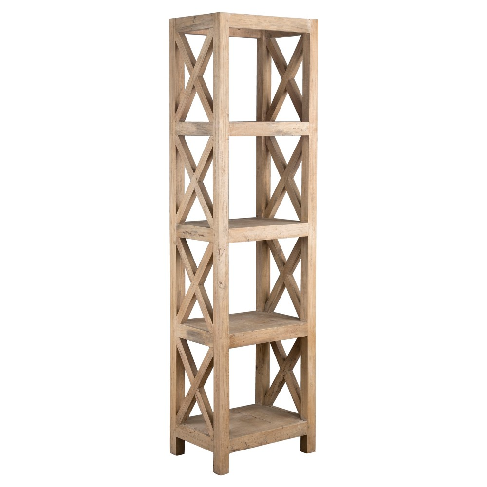 Birch Rubberwood Bookcase - Brown - East At Main