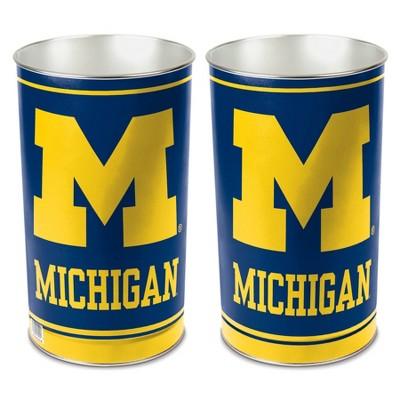 NCAA Michigan Wolverines Tin Trash Can
