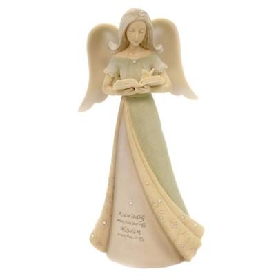 """Foundations 7.5"""" Angel Of Wisdom Spiritual Inspiring Book  -  Decorative Figurines"""