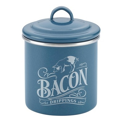 Ayesha Curry™ Enamel on Steel Bacon Food Storage Box 4 x 4  Twilight Teal