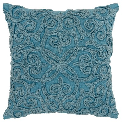 """20""""x20"""" Oversize Swirls Polyester Filled Square Throw Pillow - Rizzy Home"""