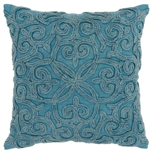"""20""""x20"""" Oversize Swirls Polyester Filled Square Throw Pillow - Rizzy Home - image 1 of 4"""