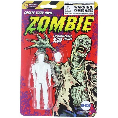 """EMCE Toys Create Your Own Zombie Customizing Blank 4"""" Action Figure"""