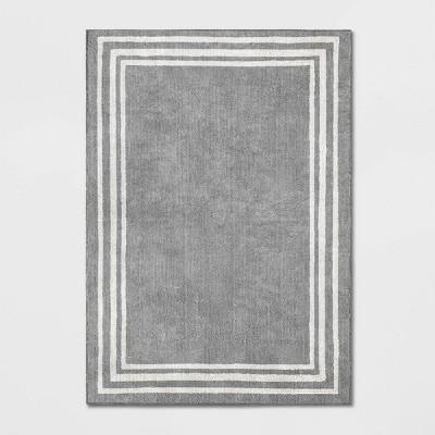 5'X7' Tetra Border Rug Gray - Threshold™