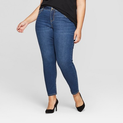 Women's Plus Size Skinny Jeans - Ava & Viv™ Medium Wash