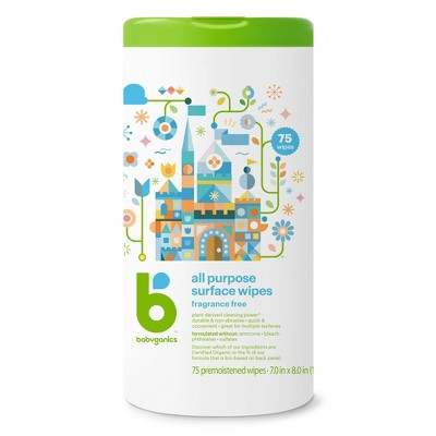Babyganics All Purpose Surface Wipes - 75ct