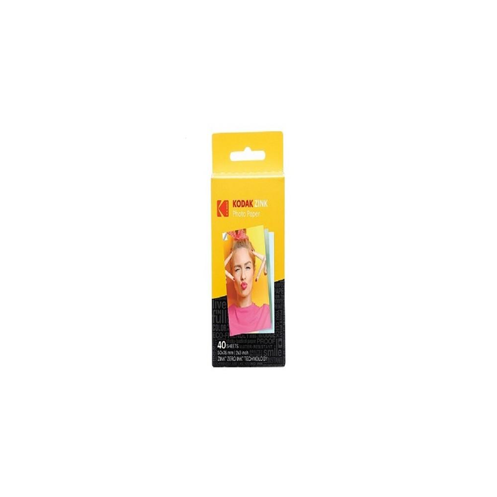 Kodak Zink Sticky-Backed Photo Paper - 40pk (RODZ2X340), Clear